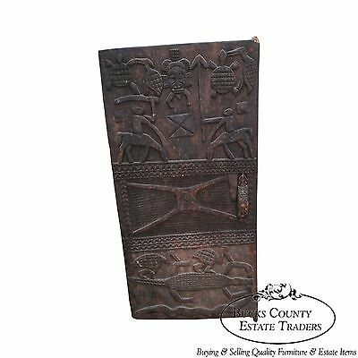 Large Hand Carved Mali Tribal African Dogan Door (D)