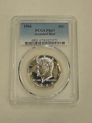 1964 Accented Hair Proof Kennedy Half Dollar!!  PCGS PR67!