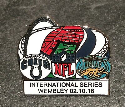 INDIANAPOLIS v JACKSONVILLE ENAMEL FOOTBALL MATCH PIN BADGE - VERY RARE