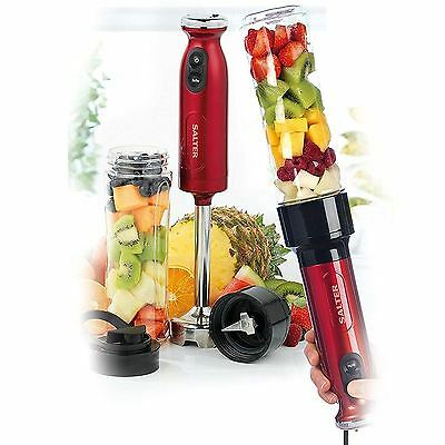 SALTER RED NutriTwist Blender Juicer Smoothie Maker Hand Blender EK2187 Power