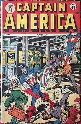 Captain America #48 (Timely, 1945) Alex Schomburg Classic Golden Age Cover !!!!!