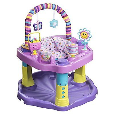 Evenflo Pink Purple Sweet Tea Party Cupcake Activity Center Gym Exersaucer