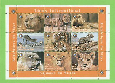 Republic of Niger 1998 Lions Int. /Animals of the World miniature sheet MNH