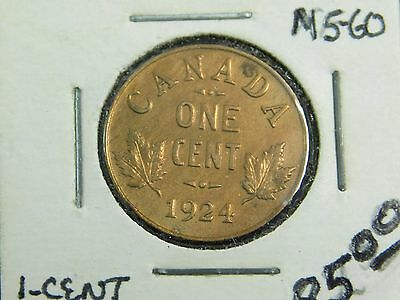 1924 Canada 1-Cent! Better Date and High Grade Condition .
