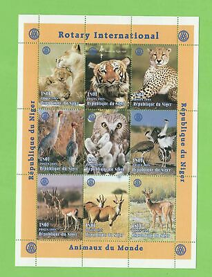 Republic of Niger 1998 Rotary /Animals of the World miniature sheet MNH