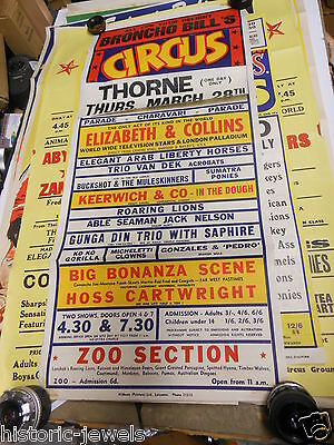 Original Circus Poster Broncho Bills 1963 Doncaster WILLSONS