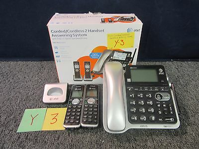 At&t Corded Cordless Phone Answering Dect6.0 Caller Id Intercom Speaker Phone