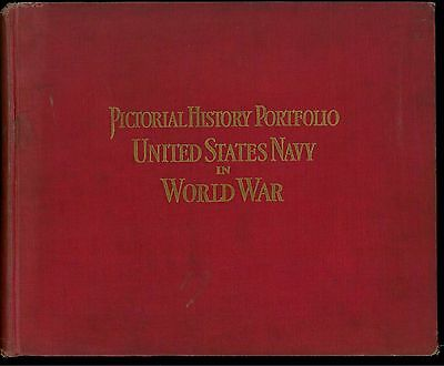 UNITED STATES NAVY IN THE WORLD WAR Pictorial History Portfolio WWI, 1921 Red HC