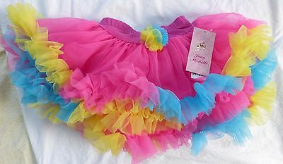 JONA MICHELLE Little Girl's Candy Neon Multi-Color Lace TUTU Skirt, Variety, NWT