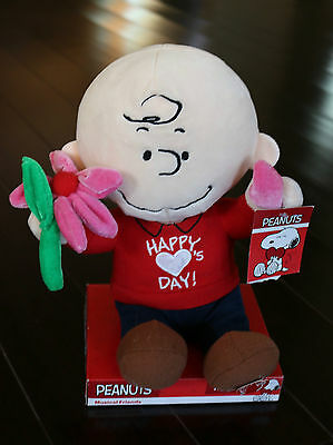 "PEANUTS Plush CHARLIE BROWN Happy Love Day's Play ""She Lovers Me, Lovers Me Not"""