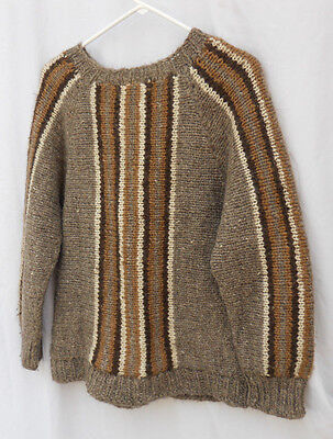 Youth ABERCROMBIE & FITCH  Gray Brown100% Icelandic Wool Crewneck Sweater Size M