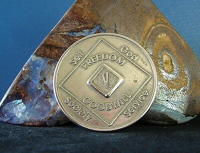 Narcotics Anonymous Bronze NA 5 Year Medallion Coin Token Chip Sobriety Sober