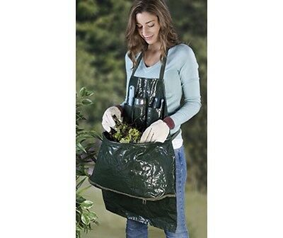 Garden Apron with Large Zipped Weed Compartment and 3 Storage Pockets BNIP