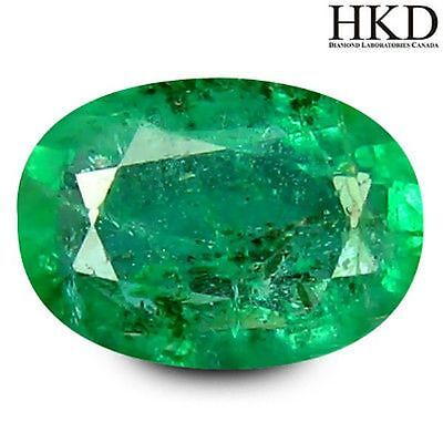 Colombia Emerald 0.44ct HKD Certified Stunning Oval UnHeated Investment#8