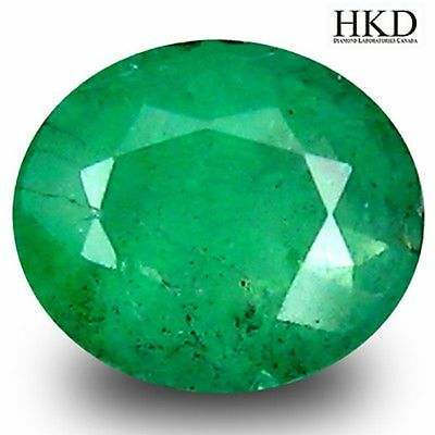 0.47ct HKD Certified Premium Oval UnHeated Colombia Emerald Investment#8