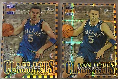 1995-96 Stadium Club Jason Kidd Class Acts Refractor and Atomic Refractor