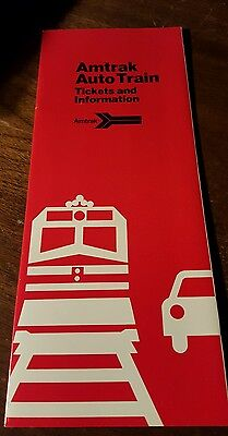1990 Amtrak Auto Train Ticket Holders and 8 Page Information Brochure