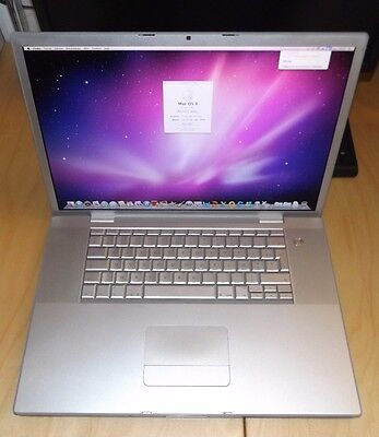 """MacBook Pro A1261 17"""" 4.1 4Go 500Go 2.5GHz OSX 10.6 MB166LL/A"""