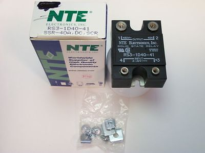 NTE Solid State Relay RS3-1D40-41 - 3-32VDC Input—SPST-NO 80-530VAC 40A Output