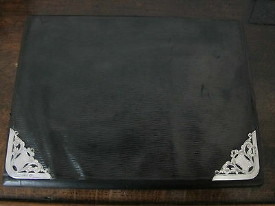 Antique Hallmarked Sterling Silver Mounted Blotter/Stand/Folio - Chester - 1898