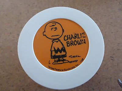 Vintage 1969 CHARLIE BROWN LUNCH BOX Soup Keep Warm THERMOS Orange Peanuts