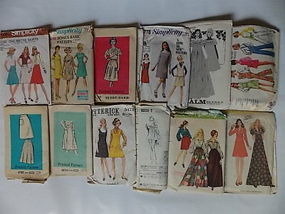 12 60s 70s Womens Vintage Sewing Pattern Lot 7
