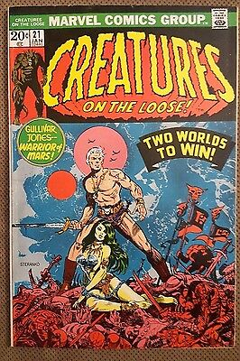 Creatures on the Loose #21 classic Steranko cover Morrow 1972 Marvel Fine+ (FN+)