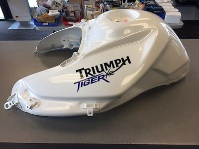 Triumph Tiger 800Xc 2010-2014 Fuel Tank, Crystal White New, Nib- Free Ship!