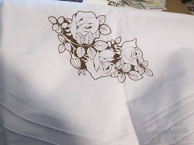 Tri-Chem Delicate Rose Oval Tablecloth #8899- 60x80 Inches-To Paint/Embroider
