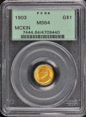 LA PURCHASE, MCKINLEY 1903 G$1 Gold Commemorative PCGS MS64 OGH