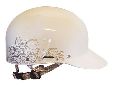 Capix Sportscap A2 Helmet Snow/Skate - White/Gold Large/XLarge - NEW