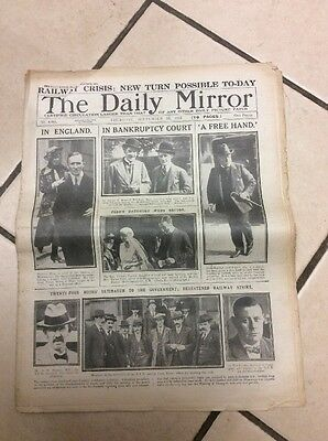 Daily Mirror Newspaper Complete Date Thursday September 25th 1919