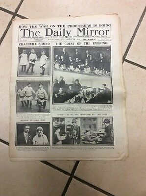 Daily Mirror Newspaper Complete Date Wednesday 24th September 1919