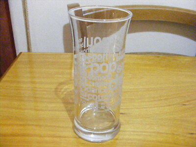 Glass Tumbler with Frosted Lettering