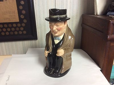 "Royal Doulton D6171 WINSTON CHURCHILL Large  9.5"" Full Body TOBY JUG 1941-1999"