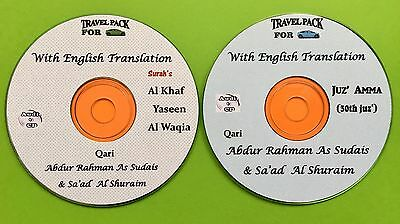 Al Quran Audio CD for cars With English Translation-2 CDs