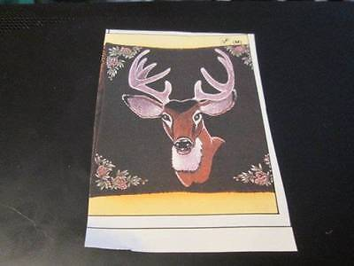 Tri-Chem Deer Head Brown Velveteen Pillow Cover #8784- 14.5 Inches Square-To Pai