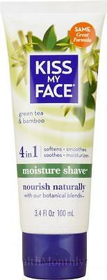 Kiss My Face 4 in 1 Moisture shave Gel GreenTea & Bamboo 100ml Nourish Naturally