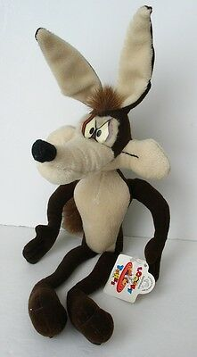 "1994 Looney Tunes WILE E. COYOTE 16"" Stuffed Toy/Animal/Doll, APPLAUSE, TAG"