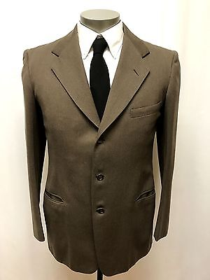 mens brown VINTAGE 1940s 2pc PANT SUIT jacket trousers wool hollywood 42 L