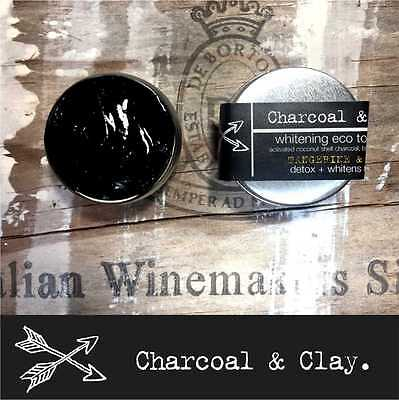 >>> CHARCOAL TOOTHPASTE Natural whitening Australia made. 25g 3 flavours