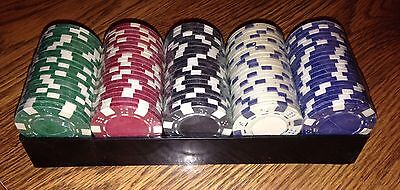 100 PC 11g ULTIMATE CASINO TABLE CLAY POKER CHIPS SET LOT