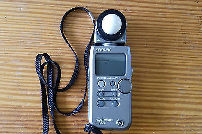 sekonic l-358 with RT Module-32 Transmitter, case and manual