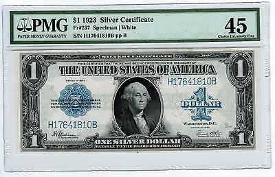 1923 Silver Certificate $1 Fr237 PMG Choice EF45
