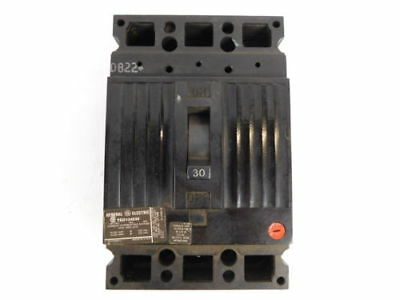 General Electric 3-Pole, 30 Amp, 480V Circuit Breaker TED134030