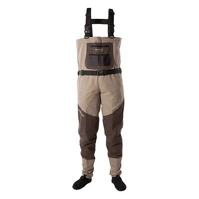 SNOWBEE Prestige ST Breathable Waders Size Large Stocking Foot Waders New