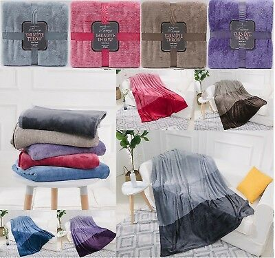 New WAVE Luxury Throws Super Soft Cuddly Cosy Warm Sofa Bed Blanket Throws