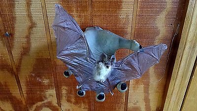 *SALE~Zombie hand w/ taxidermy Captured bat wall hanging Gothic/Halloween/goth