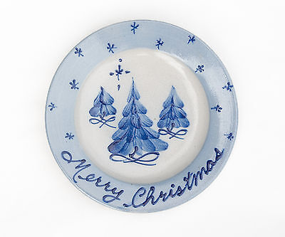 Rowe Pottery CHRISTMAS PLATES ~ Trees ~ EXCELLENT