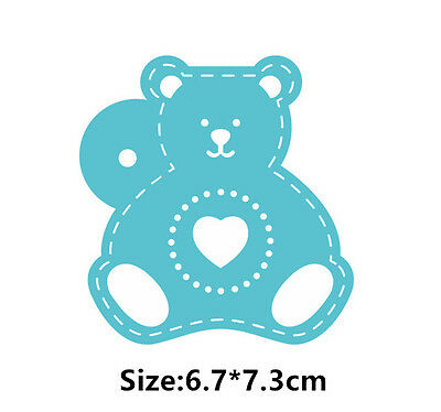 Cartoon Bear Cookie Cake Stencil Decorating Mould Fondant Pastry Biscuits Tool